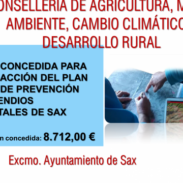 Sax: Plan Local de Prevención de Incendios Forestales